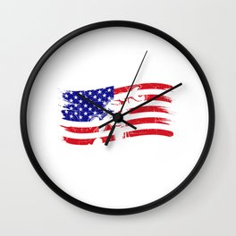Happy Labor Day - Worker USA Flag National Holiday Gift Wall Clock
