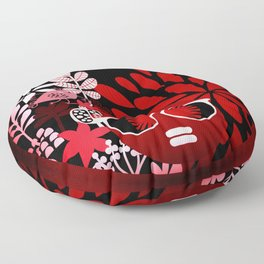 Afro Diva : Sophisticated Lady Red Floor Pillow