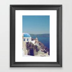 Santorini Door VI Framed Art Print