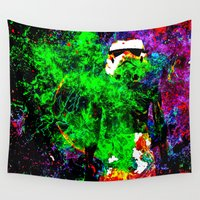 stormtrooper Wall Tapestries featuring Stormtrooper   by Saundra Myles