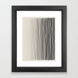 Black Vertical Lines Framed Art Print