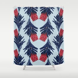 PROTEA IN COLUMBIA BLUE Shower Curtain