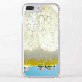 Bubbly Lemon 2 Clear iPhone Case