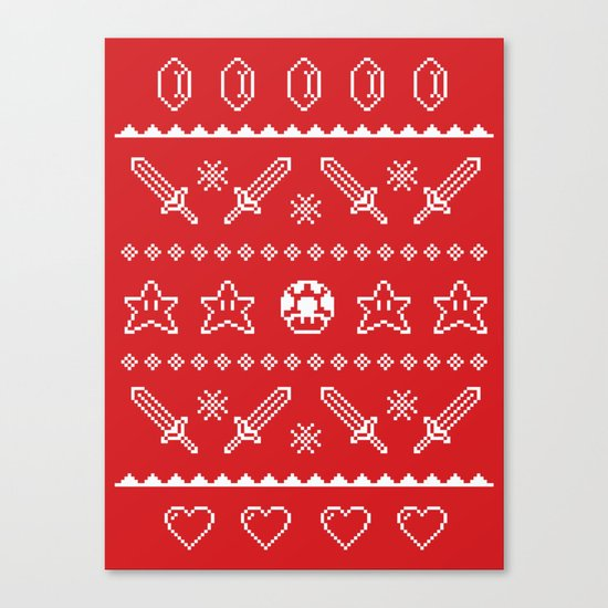Festive Adventures in Gaming Canvas Print