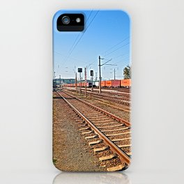 Summerau railway station | architectural photography iPhone Case