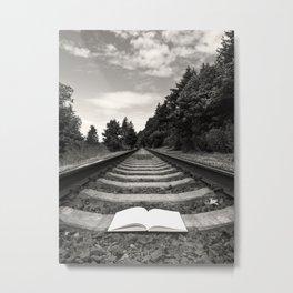 Bellingham Railroad Tracks, Washington Forest, Book Metal Print