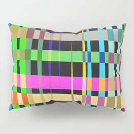 inclined coloured stripes Pillow Sham