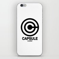daschund iPhone & iPod Skins featuring Capsule Corp Logo 2 by Dashing Daschund