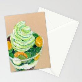 Matcha Parfait Stationery Cards