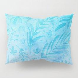 Leaves turquoise Pillow Sham