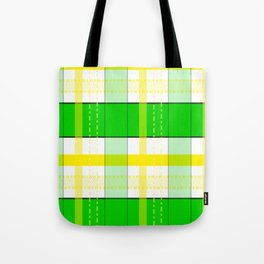Yellow and Green Plaid Tote Bag