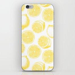 Hand drawn lemon pattern iPhone Skin