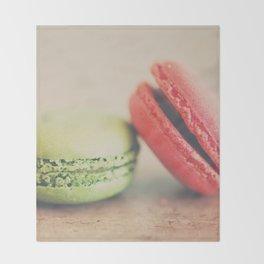 pistachio & strawberry ... Throw Blanket