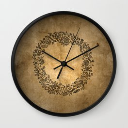 hearts and flower Wall Clock