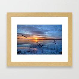 Late Autumn Sun Framed Art Print
