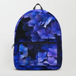 Royal Blue Hydrangea Flowers In Bloom Backpack