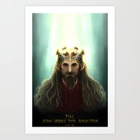 fili Art Prints featuring King Fili by Luirumi