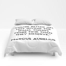 MARCUS AURELIUS  Stoic Philosophy Quote Comforters