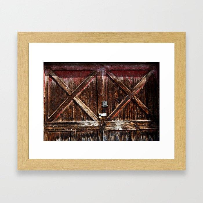 Barn Doors Framed Art Print