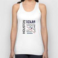 houston Tank Tops featuring Houston Texas by raineon
