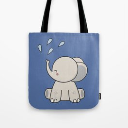 Kawaii Cute Happy Elephant Tote Bag