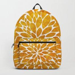 Petal Burst - Gold Backpack