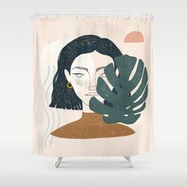 full moon mood Shower Curtain
