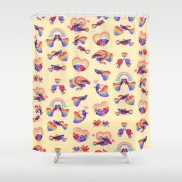 Rainbow guppy 3 Shower Curtain