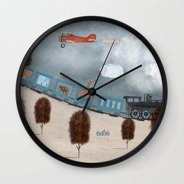 the travelling magic circus Wall Clock