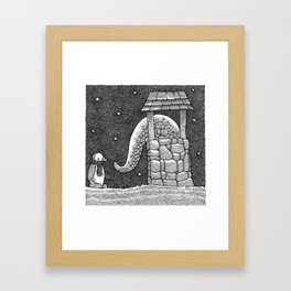 Penguin And Creature Framed Art Print