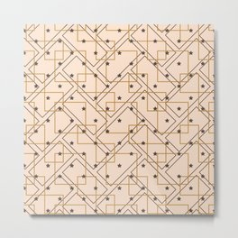 Stars and geometry  Metal Print