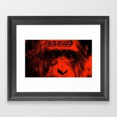 In the eyes of Chimpanzee Framed Art Print