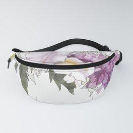 Purple watercolor flowers Fanny Pack