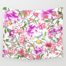 peony pattern Wall Tapestry