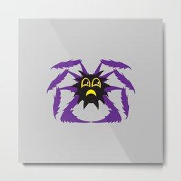 Itsy Bitsy Spider Grump Metal Print