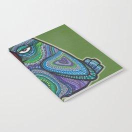 Blue and purple doodlebird Notebook