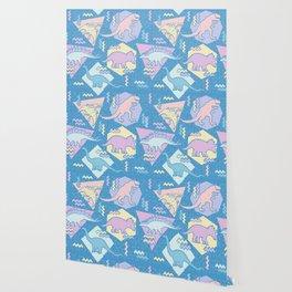 Nineties Dinosaurs Pattern  - Pastel version Wallpaper