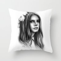 lana Throw Pillows featuring LANA by Laura Catrinella