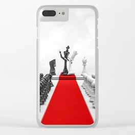 Wedding Chess / 3D render of checkmating ceremony Clear iPhone Case