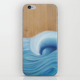 Wooden Wave Scape iPhone Skin