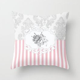 Cristine in Pink Throw Pillow