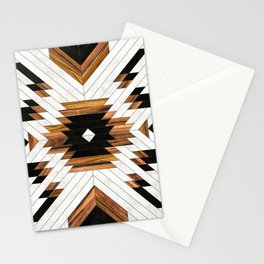 Urban Tribal Pattern No.5 - Aztec - Concrete and Wood Stationery Cards