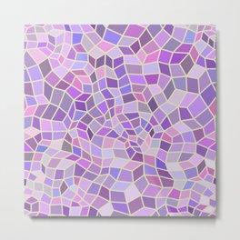 Violet Mosaic Tiles Metal Print