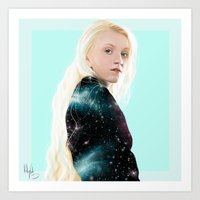 luna lovegood Art Prints featuring Luna Lovegood  by kelsey cooke art