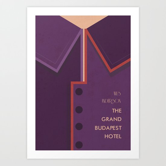 Wes Anderson's Grand Budapest Hotel - Minimal Movie Poster Art Print