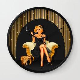 Glamor and glory Wall Clock