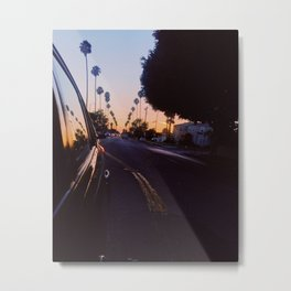 Rearview Sunset Metal Print