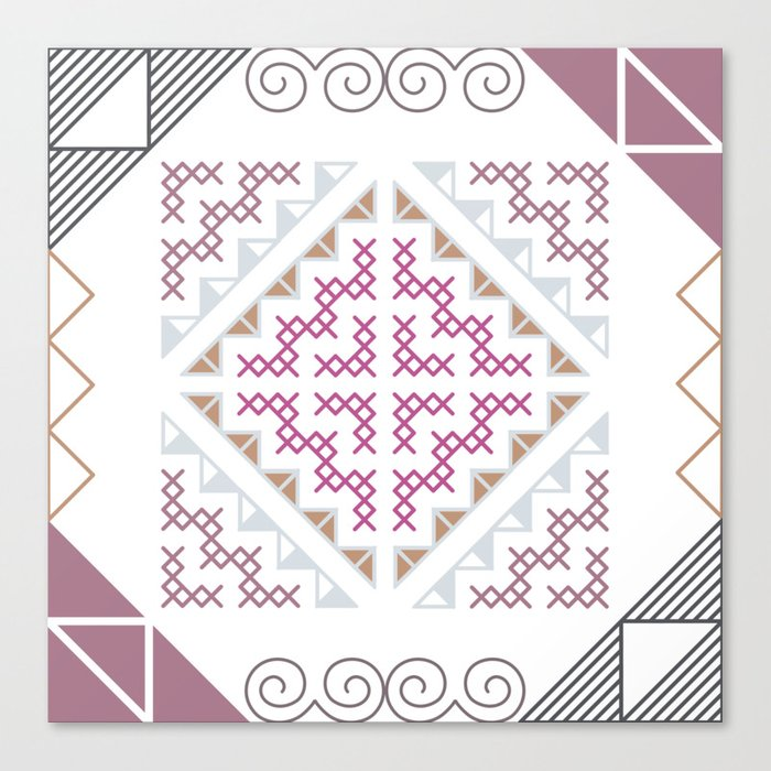Tribal Hmong Design Canvas Print By Rosesandbliss Society60 Unique Hmong Pattern