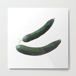 Cucumber  Duo Metal Print