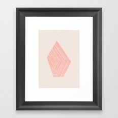Geode I - in Rose Quartz Framed Art Print